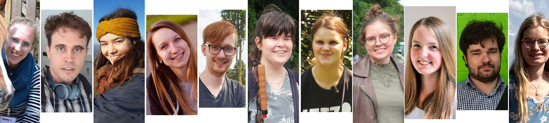 Collage der Studierenden und Beteiligten, die auf dieser Webseite mitgewirkt haben.