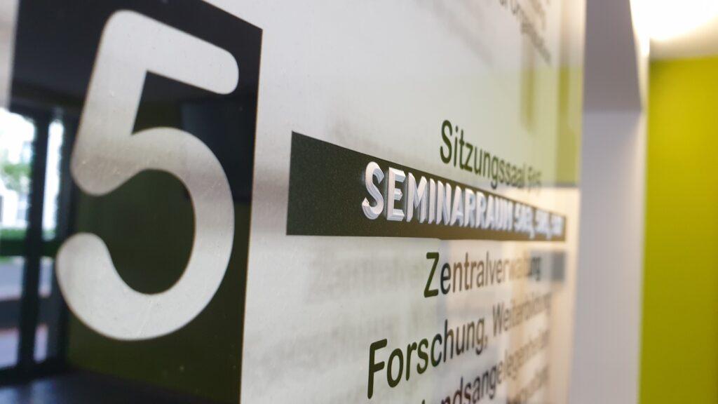 taktile Orientierungstafel fpr Studierende an der KatHo Köln